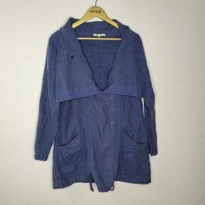RARE Prairie Underground Blue Hemp Cotton Jacket